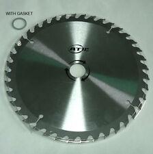 "9"" 40T Tungsten Carbide Tipped Circular Wood Cutting Saw blade w/ 1"" arbor"