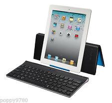 New Logitech Tablet Wireless Keyboard iPad 1th 2 3rd 4th & mini w/ Stand Cover