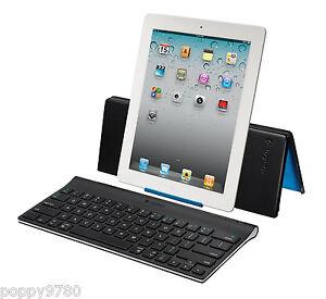 Logitech Wireless Keyboard iPad Air Pro 9.7, 12.9, 11 & mini 2, 3 w/ Stand Cover