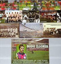 LESOTHO 2005 Klb 1947-49 Block 202 1373-74 75th Ann 1st Soccer CS Fußball WM MNH