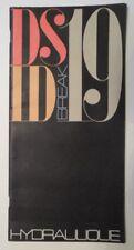 CITROEN ID DS19 orig 1965 UK Mkt Hydraulique Publicity Brochure Depliant