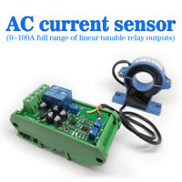Current Detection Sensor AC 0-100A Full Range of Linear Adjustable Relay Output