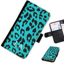 Fundas con tapa color principal azul de piel para teléfonos móviles y PDAs