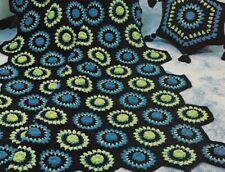 Harvest Floral Set Afghan & Pillow Crochet Pattern Instructions