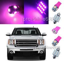 12PCS Pink LED interior package for Chevrolet Silverado & GMC Sierra 07-13