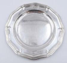 Christofle Grand Plat Rond Modèle Chinon filets en métal argenté