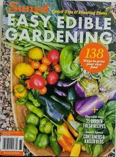 Sunset Easy Edible Gardening Quick Tips & Planting Plans Food FREE SHIPPING sb