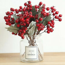 Christmas Pick Wreath Red Berry Artificial Flower Xmas Home Décor