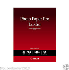 "Canon Photo Paper Pro luster LU101 8.5"" x11"" 50 Sheets Portraits Art Photography"