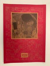 GUSTAV KLIMT,'IL BACIO, 1907-8' RARE 1990's SILKSCREEN ART PRINT