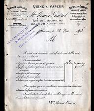 """SAUMUR (49) USINE d'AGRAFES """"MENIER ,GUERET & PUICHAUD / Louis ARNOULD"""" en 1908"""