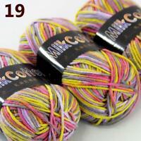 AIP New 3Skeinsx50g Soft DK Baby Cotton Crochet Yarn Hand Wool Scarf Knitting 19