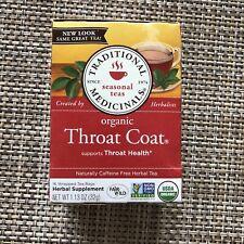 Organic Throat Coat Tea, Traditional Medicinals,
