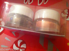 MODELS OWN EYE SHADOW DUO SET X 2 BROWN  MOCHA CHOCA + PEACHY KEEN  2 X 2g POTS