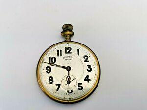 Vintage Ingersoll Regent Sub-Dial Pocket Watch for Parts / Restoration