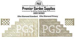 Elite Diamond Alderley Trellis Garden Lattice Climbing Various sizes 1-4 treated