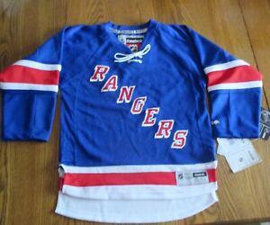"Reebok Jersey NHL NY Rangers Arena Royal Youth Prem Size S/M ""Rangers"""