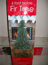 """6' Foot  Noble Fir Fake  Artificial Christmas Tree w/ Stand 72"""" Inch Ships Daily"""