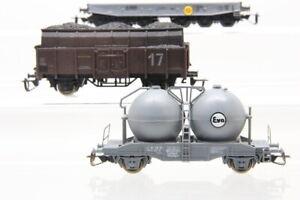 TT  DB DR 3 Güterwagen Silowagen Eva Flachbordwagen Kohlewagen Konvolut /J21