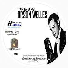 BEST OF ORSON WELLES - 96 Shows w/ Extras Old Time Radio MP3 Format OTR On 1 DVD