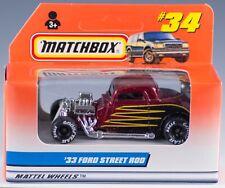 Matchbox MB 34 International '33 Ford Street Rod Red 1998 NEW in Box