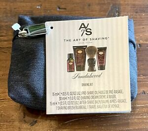 The Art of Shaving Men's Shaving Kit w/ Travel Bag - Sandalwood Shaving Kit
