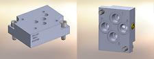 Hydraulic manifold A5SPB8S D05 Back Ported Subplate Alum,  Port SAE 8