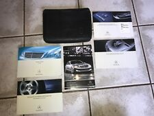 2008 MERCEDES S-CLASS OWNERS MANUAL AND LEATHER CASE