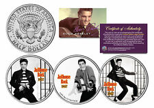 ELVIS PRESLEY *Jailhouse Rock* Colorized JFK Half Dollar US 3-Coin Set LICENSED