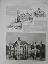 1896 HONGRIE BUDAPEST EXPOSITION CONSTRUCTION STYLE GOTHIQUE RENAISSANCE
