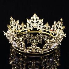 Queen's Imperial Medieval Fleur De Lis Gold King Crown 8cm High 18cm Diameter