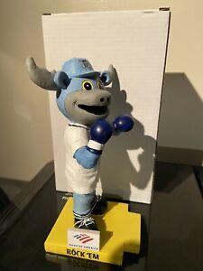 Rocky Bluwinkle MASCOT BOBBLEHEAD WILMINGTON BLUE ROCKS SGA Rock Em Bobblefist