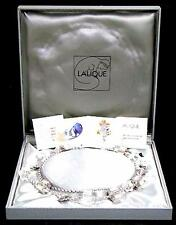 "LALIQUE ASTRID CRYSTAL STERLING STAR 52"" LONG NECKLACE HUGE - NEW! OUTSTANDING"