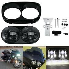 Black Dual Cree LED Headlight Hi/Lo Beam for Harley Road Glide CVOF LTRSE3 2009
