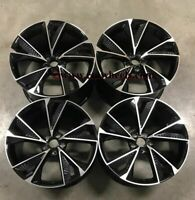 "19"" New 2020 RS7 Alloy Style Wheels Black Machined Audi A3 VW Golf MK6 MK7.5"