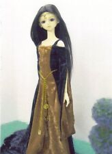 """Affordable designs """"Once upon a Lady"""" Sd Sd13 Bjd 60cm or 24"""" Doll dress pattern"""