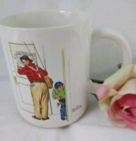 Norman Rockwell Mug CLOSED FOR BUSINESS 1987 Museum Collections Cup Japan