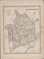 Monmouthshire. Hand coloured map J & C Walker 23 x 18 cm.    A4.895