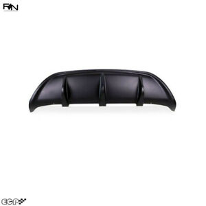 Fit for 17-20 STELVIO Car Rear Bumper Chin Fin Diffuser Bodywork Matte Black