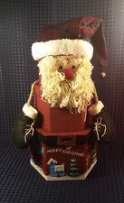 Vintage Christmas Santa Claus Cloth  Box Covers Decoration Hide a way