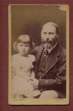 Largs. John Fergus. Father & Daughter.   CDV  photograph qe329