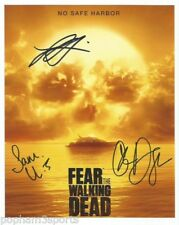 FEAR THE WALKING DEAD Multi Signed/Autographed 8x10 Photo X3  w/COA