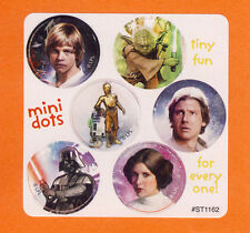 60 Star Wars Mini Dot Stickers - Luke, Han, Leia, Darth Vader, Yoda, R2D2, C-3PO