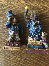 Boyds Bears Set Of 2 Usa Ms. Liberty & Uncle Elliot Patriotic America