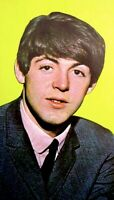 Beatles 1964 Vintage Postcard Paul McCartney Fab Four Original EX COA