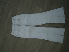 Pantalon beige BASIC + Pantalon toile Orchestra 10 ans