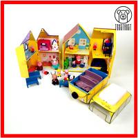 Peppa Pig Bundle Mixed Toy Set Caravan Classroom Deluxe House Castle Figures E2