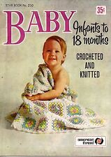 American Thread Star 210 Baby Crochet Knitting Pattern Party Dress Blanket 1960
