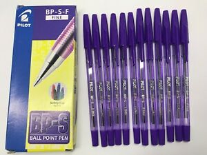 Box of 12 pcs x BPS Fine 0.7mm Ball Point Pen Violet ink   **Great SALES