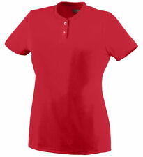 Augusta Sportswear Women's Moisture Wicking Two Button Jersey T-Shirt. 1212